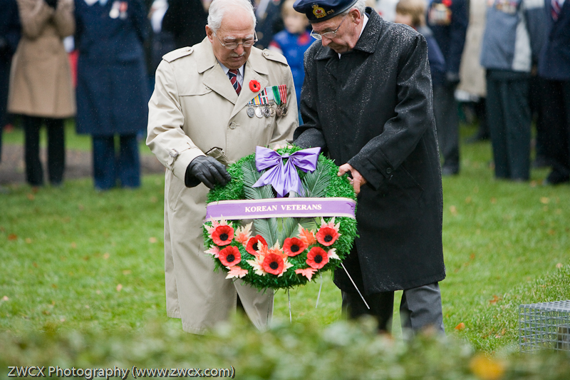 Remembrance Day - Wreath Laying for Canadian Korean War veterans