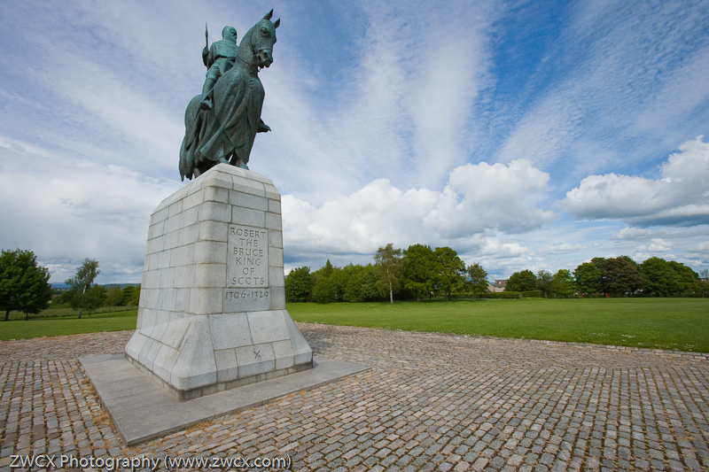Bannockburn - Statue of Robert the Bruce, Bannickburn. Scotland
